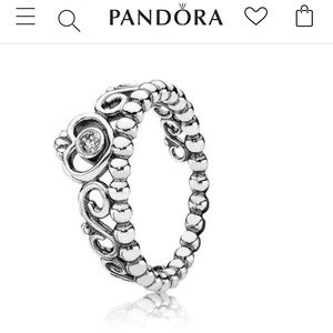 Pandora Princess Ring Size 7-8